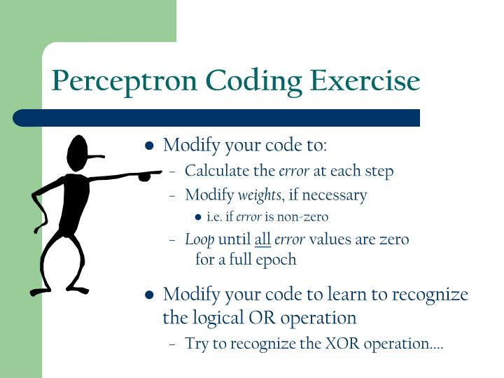 Perceptron Coding Exercise