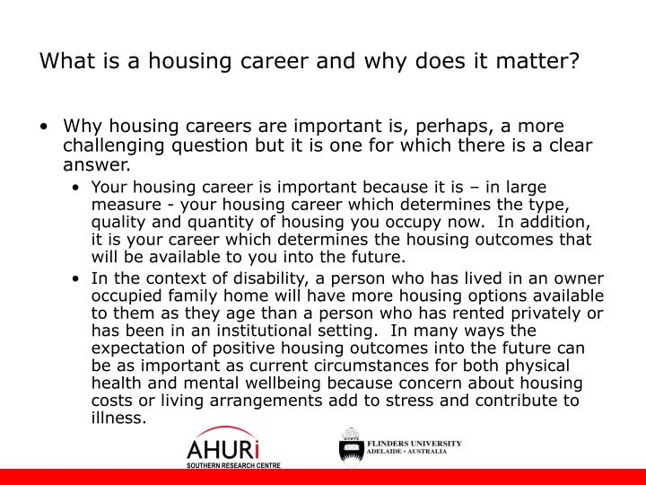 What is a housing career and why does it matter?