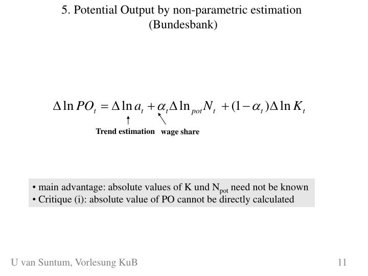 5. Potential Output by non-parametric estimation