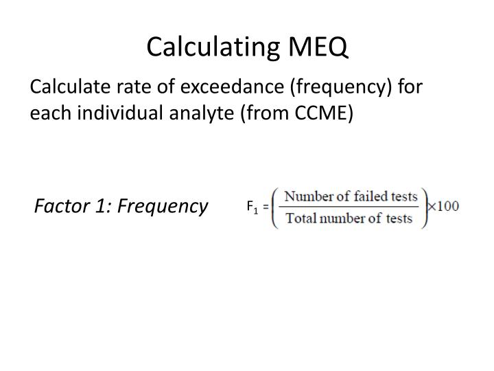 Calculating MEQ