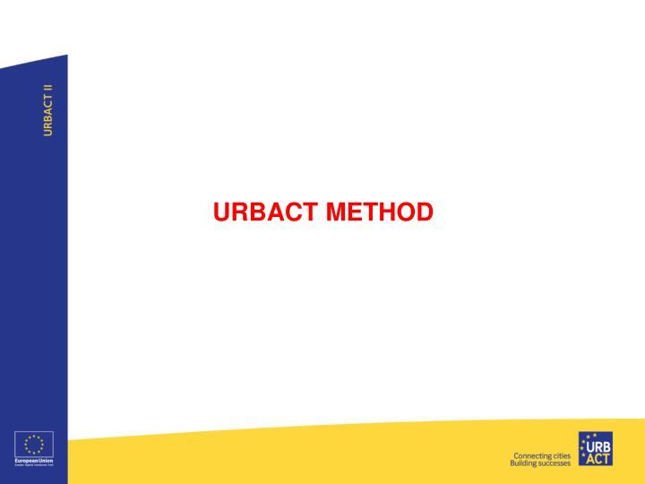 URBACT METHOD