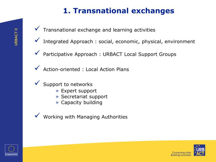 1. Transnational exchanges