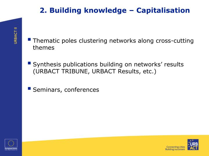 2. Building knowledge – Capitalisation