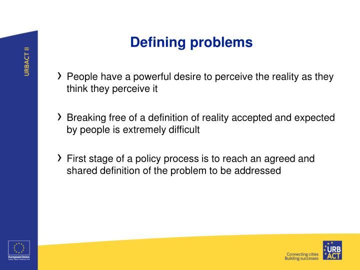 Defining problems