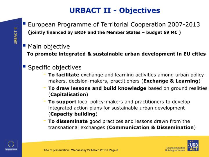URBACT II - Objectives