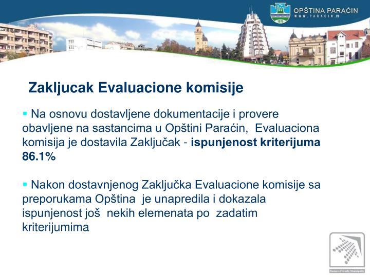 Zakljucak Evaluacione komisije