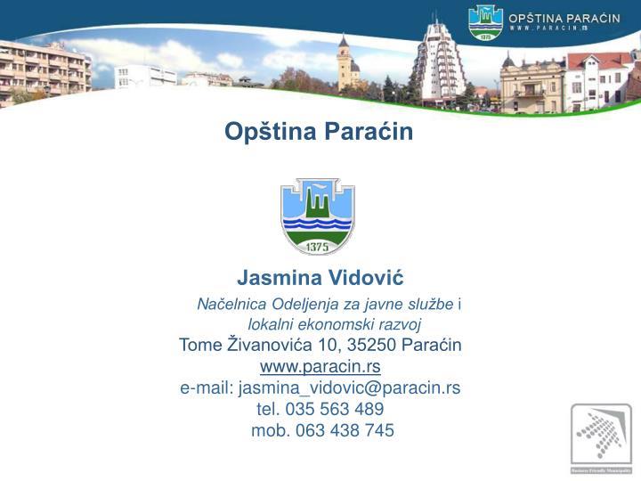 Opština Paraćin