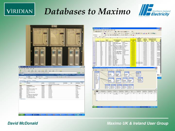 Databases to Maximo