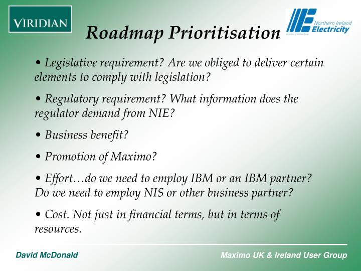 Roadmap Prioritisation