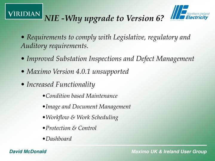 NIE -Why upgrade to Version 6?