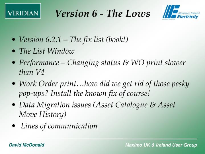 Version 6.2.1 – The fix list (book!)