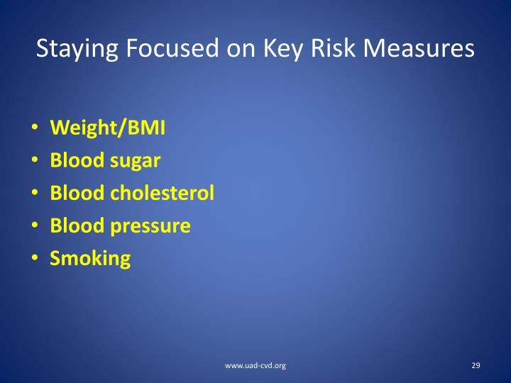 Staying Focused on Key Risk Measures