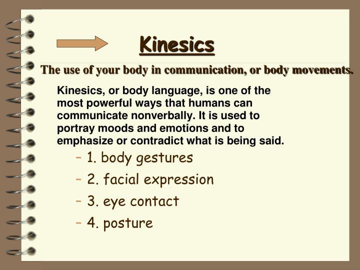 1. body gestures