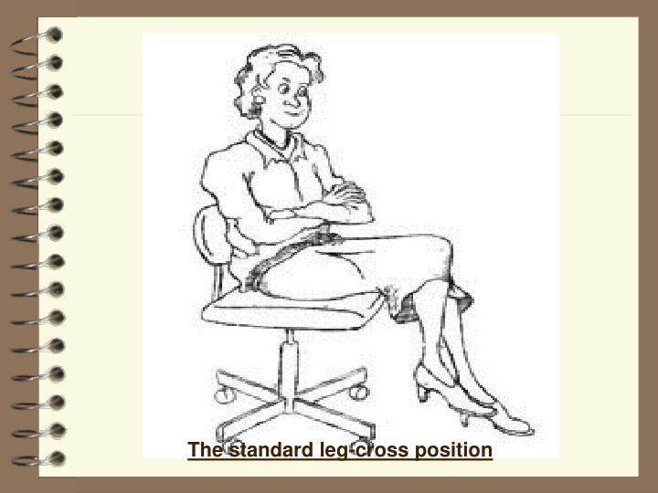 The standard leg-cross position