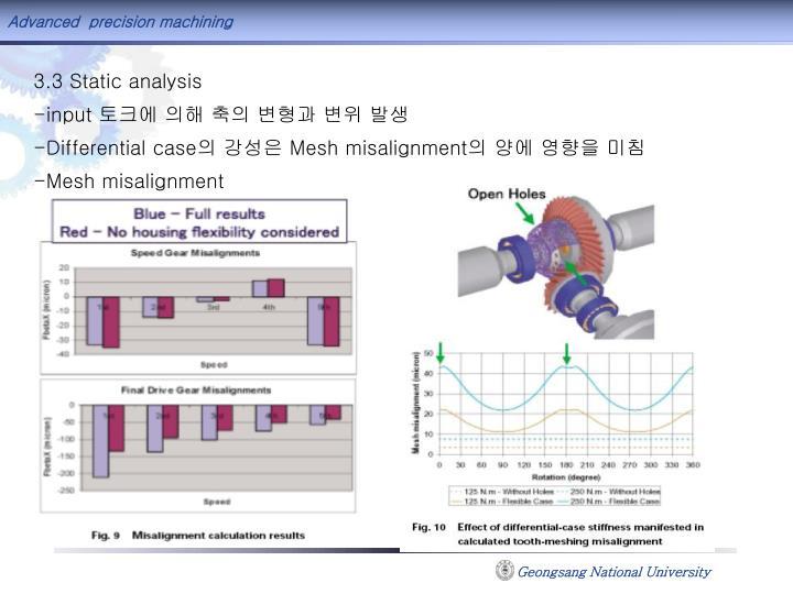 3.3 Static analysis