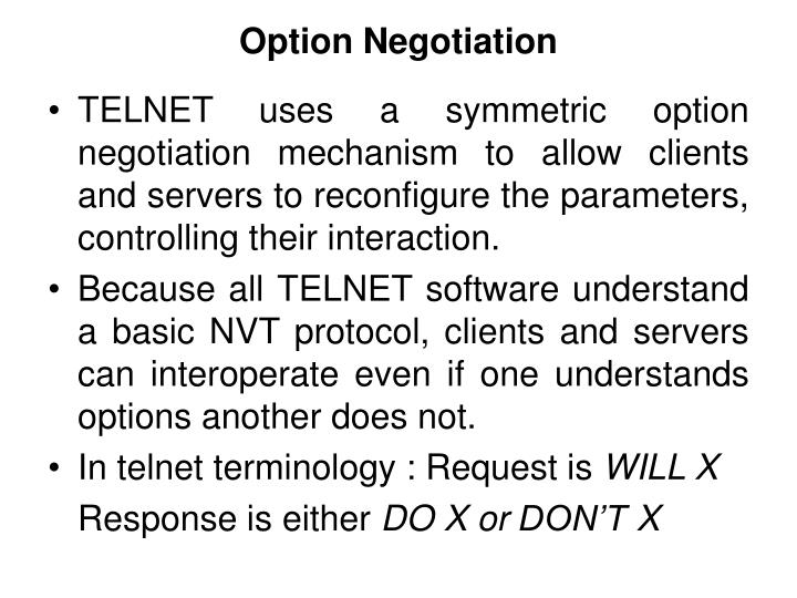 Option Negotiation