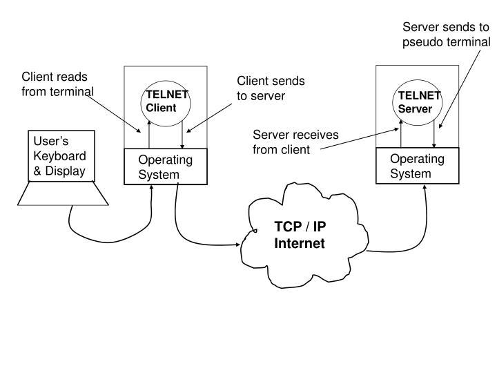 Server sends to pseudo terminal