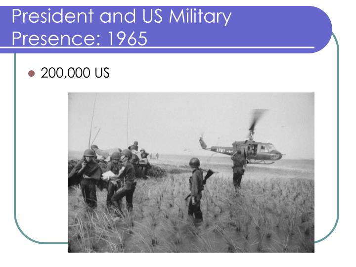 President and US Military Presence: 1965