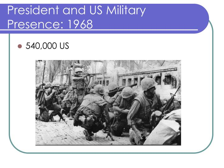 President and US Military Presence: 1968
