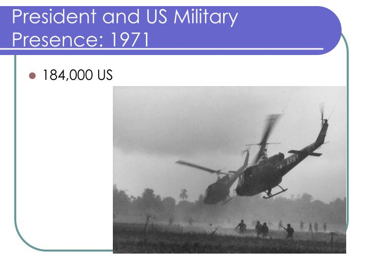 President and US Military Presence: 1971