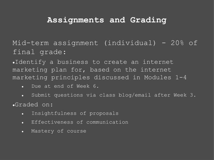 Assignments and Grading