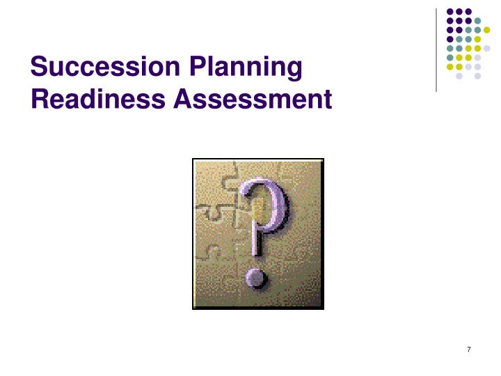 Succession Planning Readiness Assessment