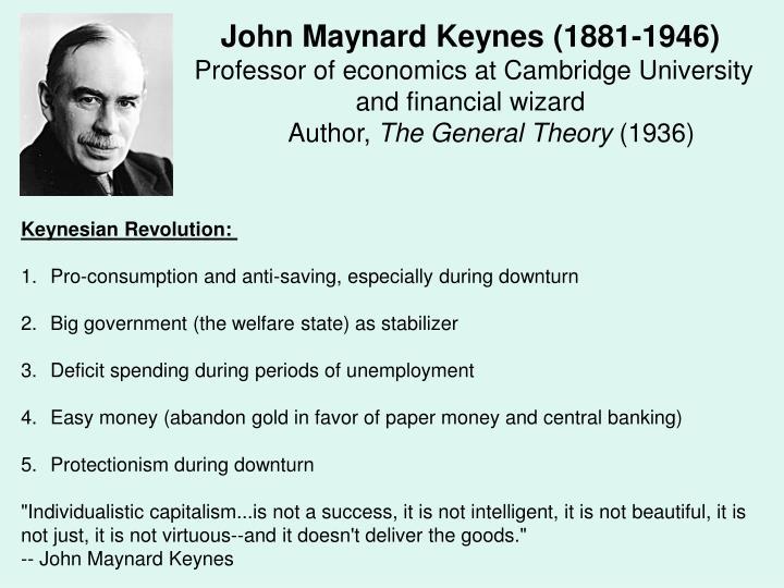 John Maynard Keynes (1881-1946)