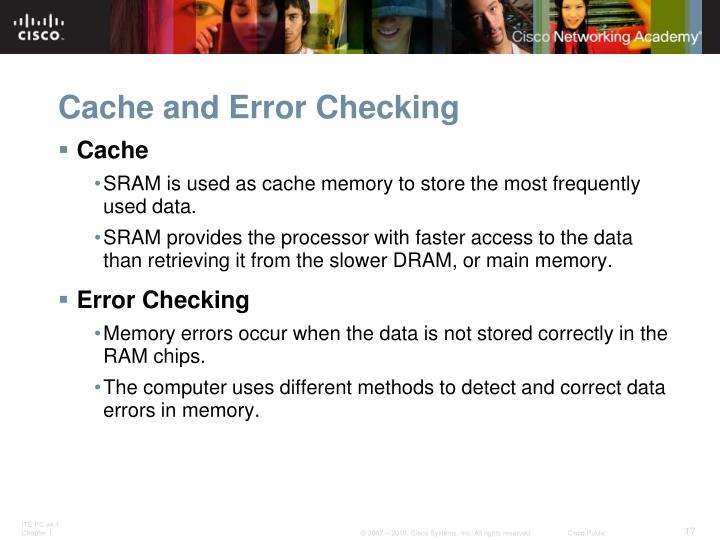 Cache and Error Checking