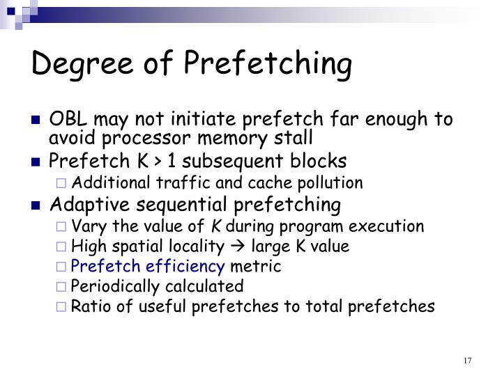 Degree of Prefetching