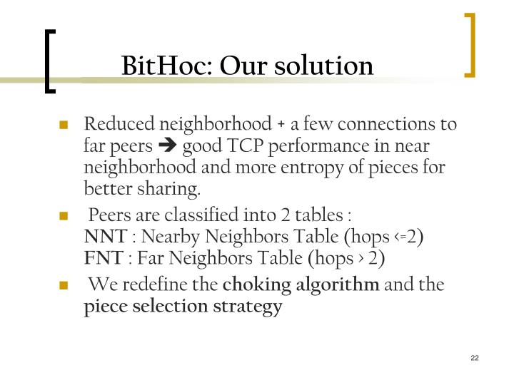 BitHoc: Our solution