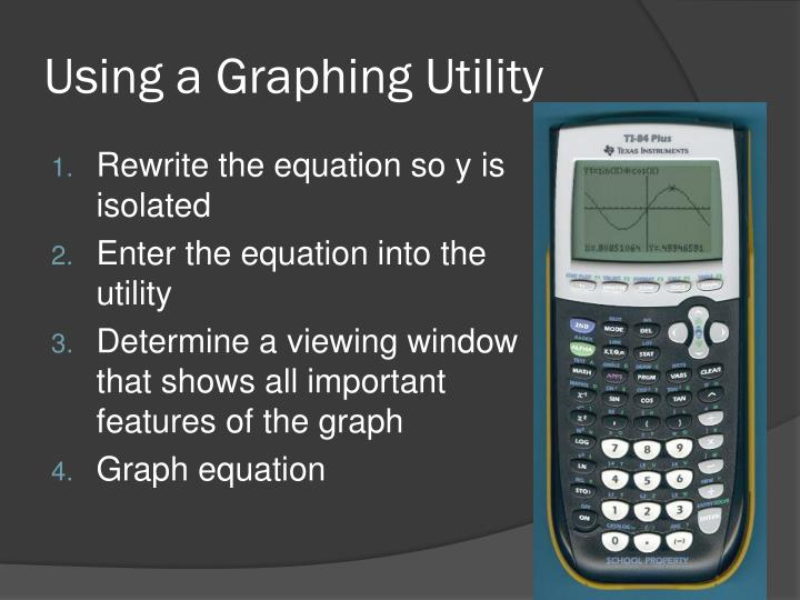 Using a Graphing Utility