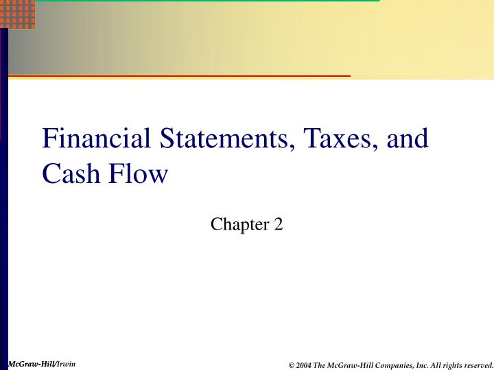 chapter 03 14financial statements cash flow