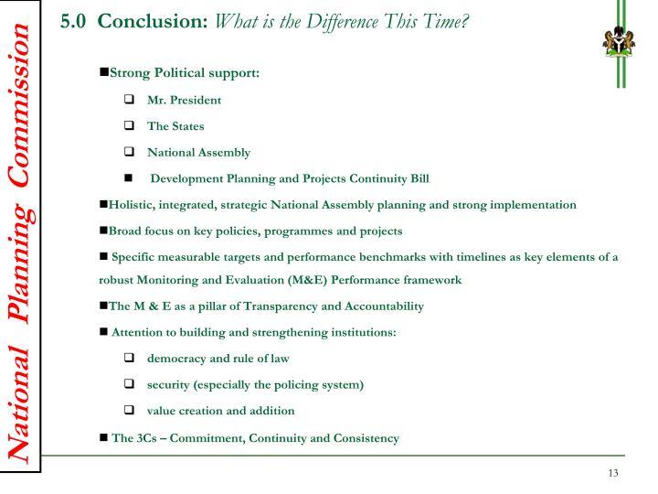 5.0  Conclusion: