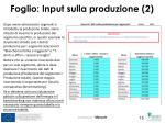 foglio input sulla produzione 2