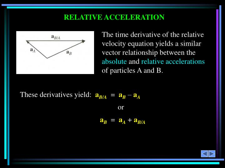 RELATIVE ACCELERATION