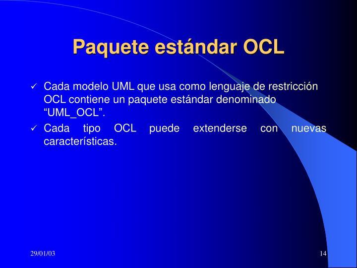 Paquete estándar OCL