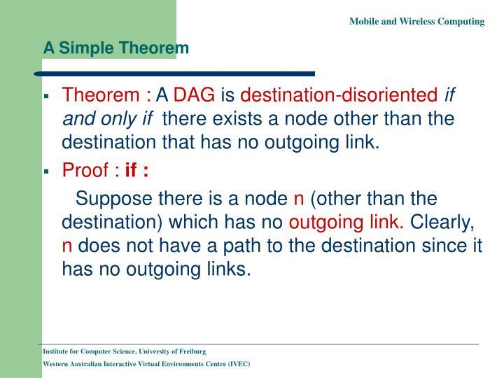 A Simple Theorem