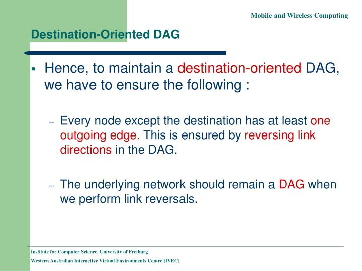 Destination-Oriented DAG