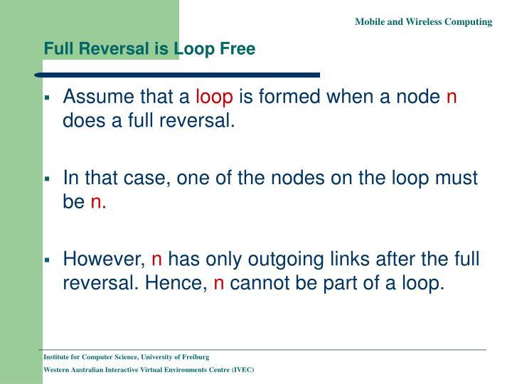 Full Reversal is Loop Free