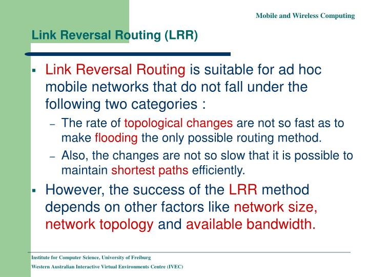 Link Reversal Routing (LRR)
