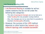link reversal routing lrr