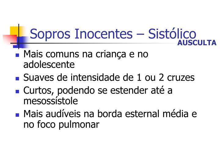 Sopros Inocentes – Sistólico