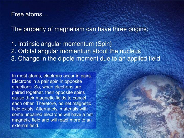 Free atoms…
