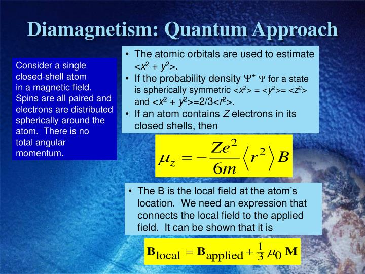 Diamagnetism: Quantum Approach