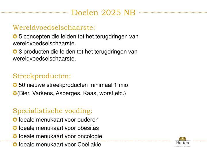 Doelen 2025 NB