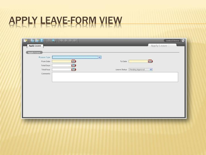 Apply Leave-Form View