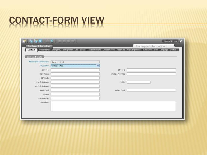 Contact-Form View