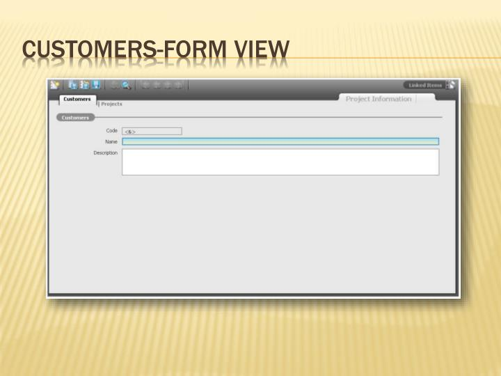 Customers-Form View