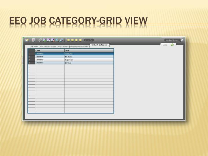 EEO Job Category-Grid View