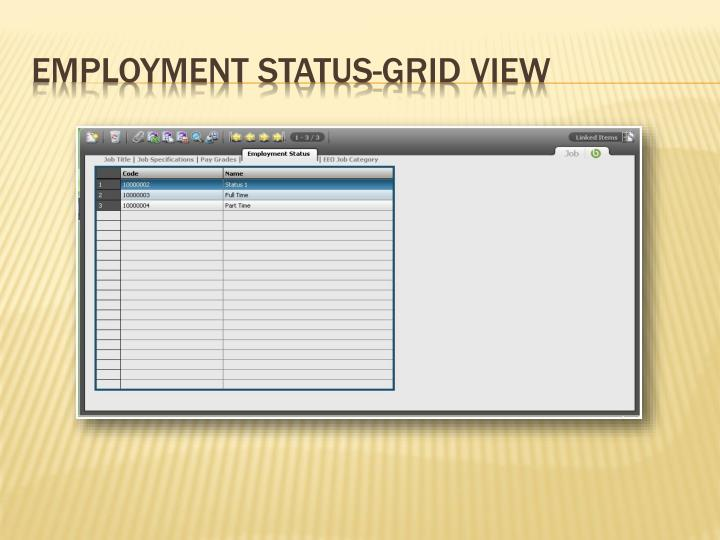Employment Status-Grid View